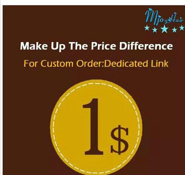 Machen Sie den Preisunterschied fest zugeordneter Link-Versand Make-up-Patches machen den Unterschied deutlich Mjoyhair Ein fest zugeordneter Link