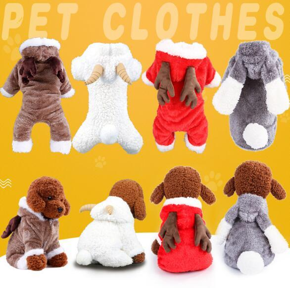 Dog clothes Teddy bear Xiong VIP Bomei small puppies Elk Christmas costume pet thickening four feet autumn and winter clothing