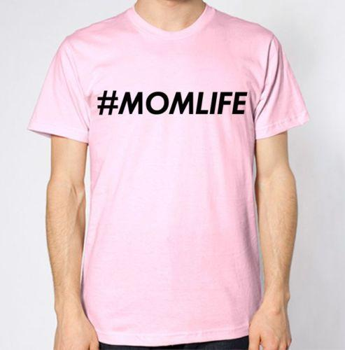 Mom Life Hashtags T-Shirt # Mother Mum Gift Present Daughter Cool TopFunny free shipping Unisex Casual tee gift