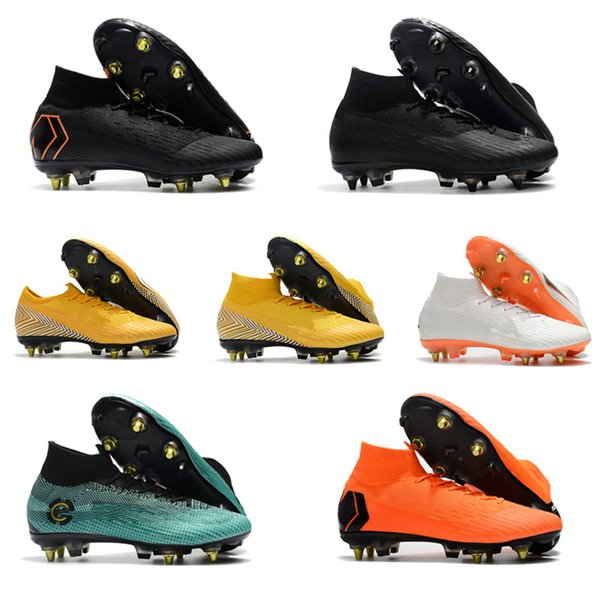 nouveaux styles e1edc d01c8 2018 Original Mens Soccer Cleats Mercurial Vapor VI Elite CR7 Neymar SG AC  Outdoor Soccer Shoes Crampons De Football Boots Mercurial Superfly From ...