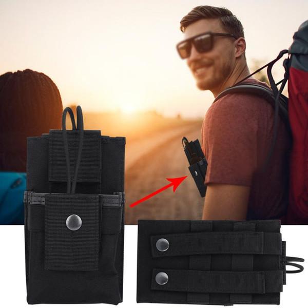 Portable Radio Halter Fall Nylon Walkie Talkie Tasche für Outdoor-Sport schwarz Armee grün Schlamm Farbe Optional