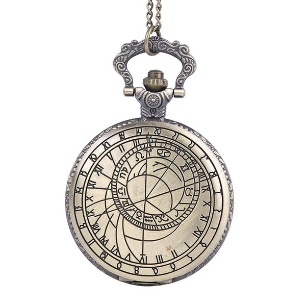 Large scale retro sculpture, classical Rome character compass, surveying and mapping, classic flip, Rune Pocket Watch