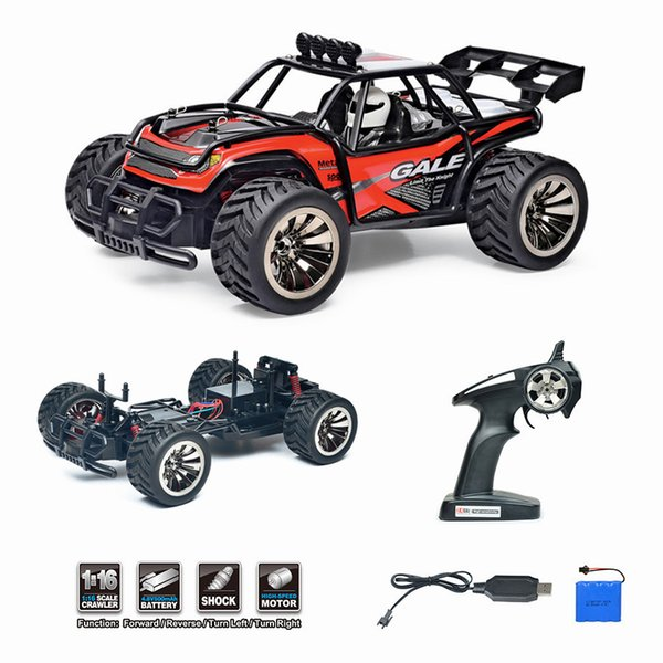 RC Car 1/16 2.4Ghz Electric Remote Control Car High Speed Off-road RTR RC Buggy Monster Truck Racing Kids Birthday Gift Toy