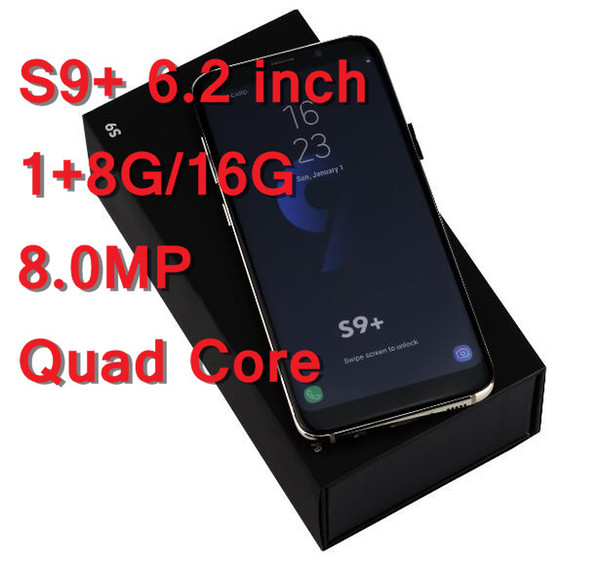 New Goophone S8 S9+ Android 7.0 Cellphone 1GB+8GB Dual sim Unlocked 3G Smartphone Sealed Box With Accessories