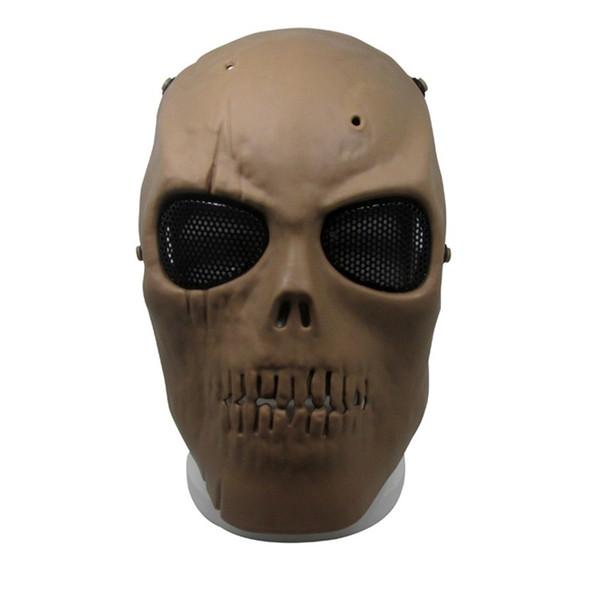 New Army Mesh Full Face Mask Skull Skeleton Airsoft Paintball BB Game Protect Safety Mask High Quality 20js aa