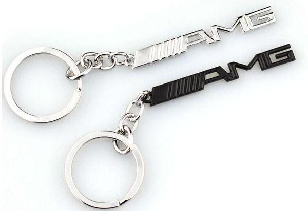 Anel chave do carro chaveiro emblemas do carro amg emblemas para mercedes benz a45 sls amg e63 chave titular auto acessórios do carro styling