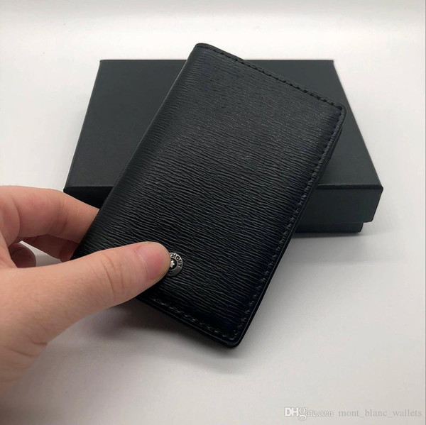 Porta carte di credito da uomo MB di lusso in pelle di alta qualità MT, titolare della carta di moda titolare della carta Ultimi portafogli di alta qualità Porta biglietti da visita