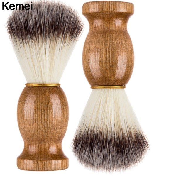 Shaving Brush Badger Hair Men Barber Salon Facial Beard Cleaning Appliance Shave Cleaner Tool Razor Brush Wood Handle