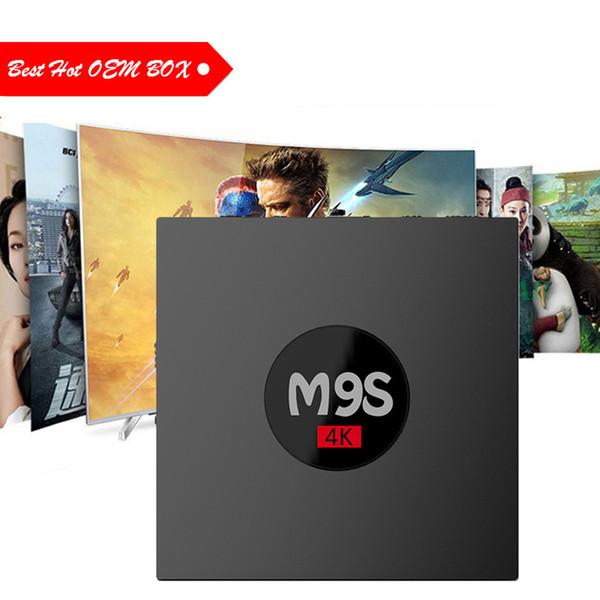 Cheapest Rockchip M9S K3 TV Box RK3229 Quad Core Cortex A7 1G 8G Android 6.0 TV BOX WiFi 4K 3D Android ott tv box Best OEM ODM