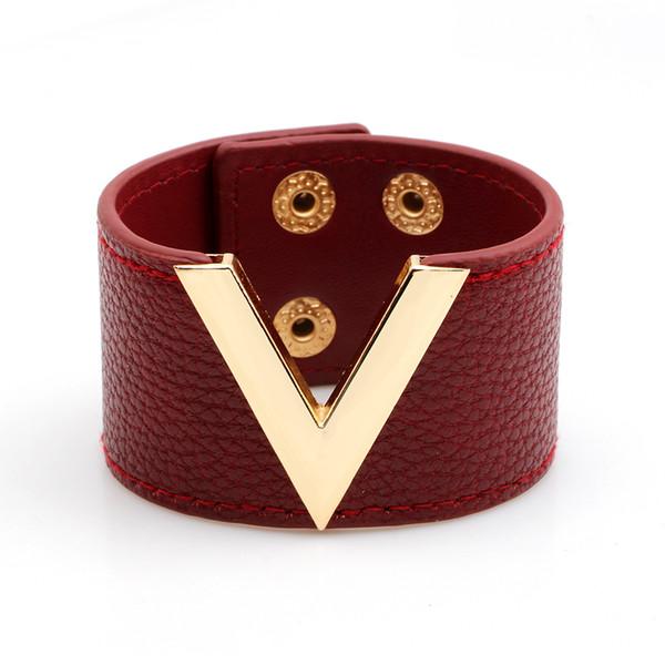 Simple Design Cuff Women Genuine Leather Bracelet Bangles Luxury Sporty Wide Wrap Charm Bracelet Female Party Jewelry