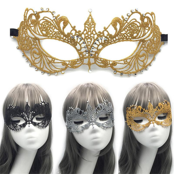 Womesn Sexy Lace Party Masks Ladies Girls Halloween hollow stable Xmas Cosplay Costume Masquerade Dancing Valentine Half Face Mask