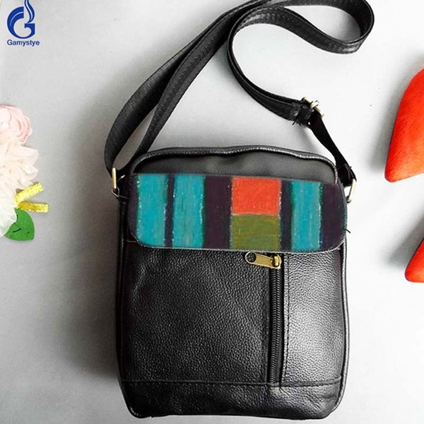 Contrast Color Bags for Women 2008 Genuine Leather Crossbody Bag Ladies Purses and Handbags Fashion Hand Painted Messenger totes