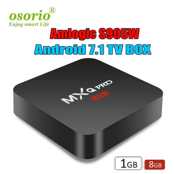 Smart TV Media Player MXQ Pro 4K S905W TV CAJA Android 7.1 TV Boxes 4K Genuine Amlogic MXQ PRO 4K 1GB / 8GB WiFi Lan Internet Google IPTV BOX