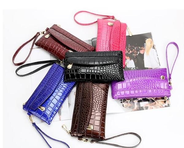 2018 fashion new handbag lady Mobile Phone Wallet, casual female bag, women's small bag, hand carried female bag. Clutch bag wallet
