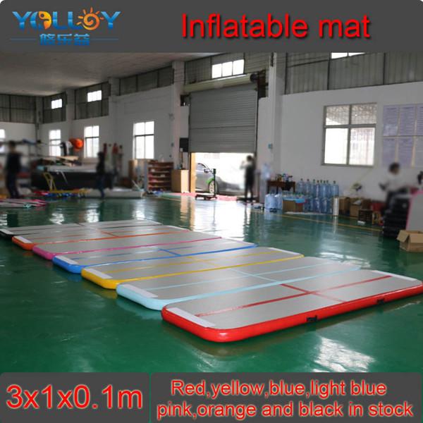 Air Tumble Track 3x1x0.1m inflatable Yoga Mats Tumble Track for Home Training inflatable gymnastic mat