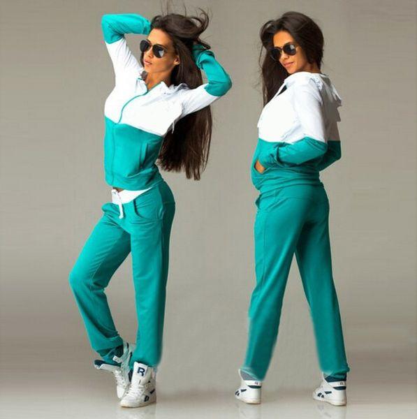 2018 Moda Liva Kız Yeni Rahat Eşofman Kadın 2 Parça Set Üstü Ve Pantolon Seksi Çizgili Bayanlar Eğlence Iki Adet Kazak S-XL Suits