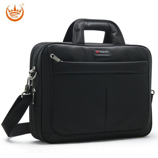 YAJIE Direct Selling New luxury Men's Handbags Business 14 Inch Laptop Bag Men's Briefcase Horizontal Male Shoulder Bag A265