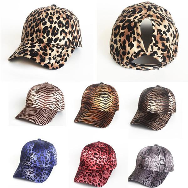 Mode Baseballmütze Männer Frauen Outdoor Sports Caps Leopard Zebra Muster Hip Hop Einstellbare Hysteresen Coole Hüte