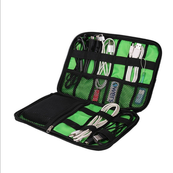 Wholesale- Large Cable Organizer Bag can put Hard Drive Cables USB Flash Drives Travel Gift
