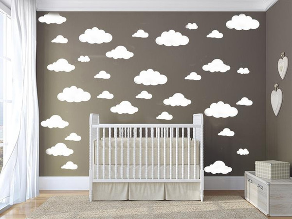 Mixed 4size Cartoon Clouds Shape Wall Sticker Removable Diy Wall Decal For Kids Room Decor Letter Wall Decals Letter Wall Stickers From Totwo3