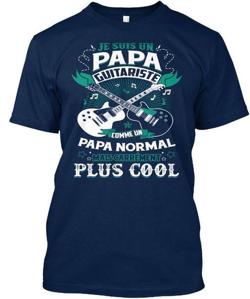 Je Suis Un Papa Guitariste T-shirt Élégant (S-3XL) T-shirt En Coton À La Mode T Shirt Livraison Gratuite