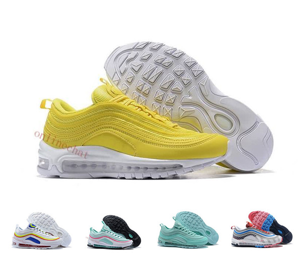 best cheap 2f374 36e8c Fashion Womens 97 97s Running Shoes South Beach Japan Silver Bullet  Undefeated Pack Triple Black White Pink 97s Trainers Sports Sneakers  Running Shoes ...