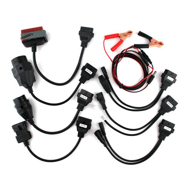 10 ADET çok cdp OBD2 OBDII Arabalar Teşhis Arayüz Aracı Tam Set 8 Araba Kabloları TCS CDP Pro Kablo