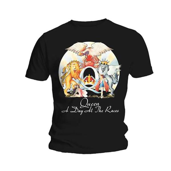 Maglietta t-shirt con licenza Maglie della t-shirt di Freddie Mercury Rock Queen A Day At The Races