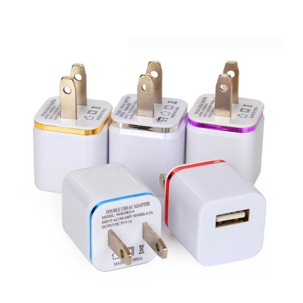 5V full 1A US Plug wall Charger AC Power Adapter Home Charger for iPhone6 6plus 7 7plus 8 8plus X For Xiaomi For Huawei,Samsung 500pcs/lot