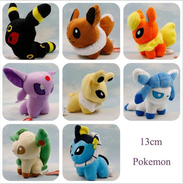 Pikachu Plush Toys 13cm Pikachu Umbreon Eevee Espeon Jolteon Vaporeon Flareon Glaceon Leafeon Animals Soft Stuffed Dolls Toys