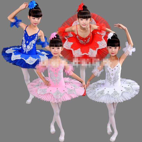 kid Professional Swan Lake Ballet Tutu ballet dress for Children Ballerina Dress Kids girl Dancewear tutu skirt