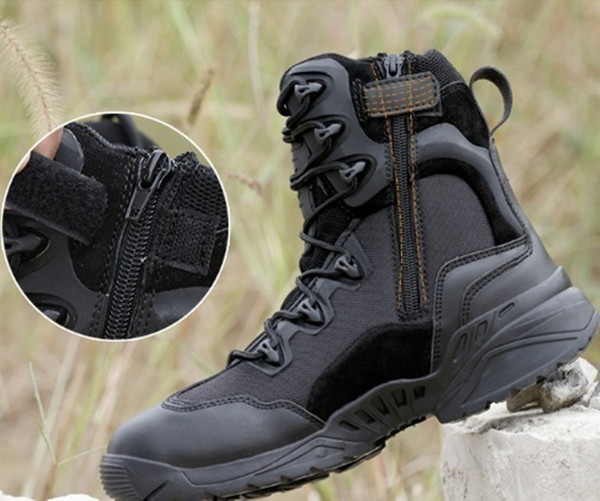 Brand Men Military Army Boots Special Forces Tactical Desert Combat Boats Outdoor Sport Shoes Cow Leather Snow Boots