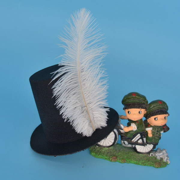 Feather Hair Clip Mini Top Hat Wedding Party Fancy Dress Hair Accessories