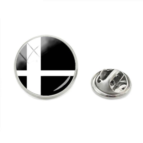 2018 New Arrival Fashion Smash Ball Super Smash Bros Brawl Lapel Pin Glass Smash Ball Burning Silver Cabochon Jewelry Brooch