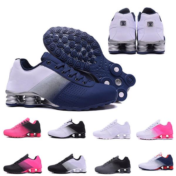 Mais barato New Shox Entregar 809 Homens Mulheres Transporte da Gota De Ar Famoso DELIVER OZ NZ Mens Sapatilhas Atléticas Formadores Sports Casual Sapato 36-46