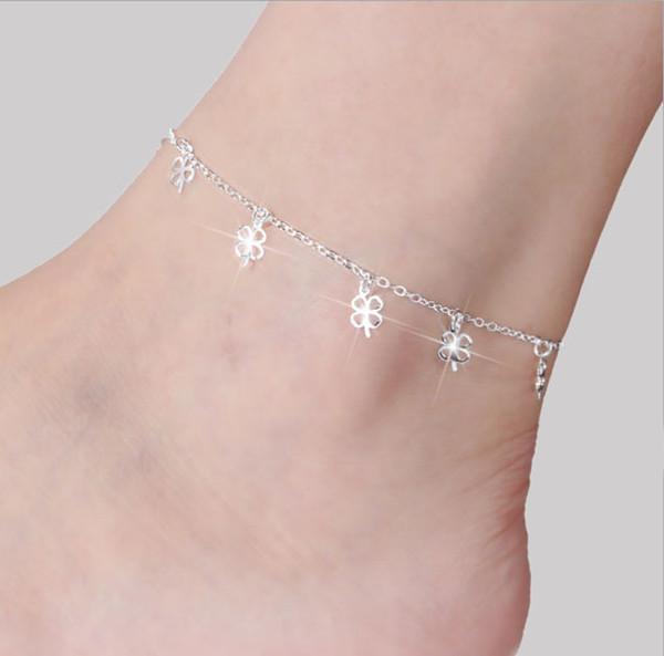 Fashion Silver Color moda praia Charms Anklets Bracelet on The Leg Sea Summer Beach Foot Jewelry Tobilleras De Plata Para Mujer