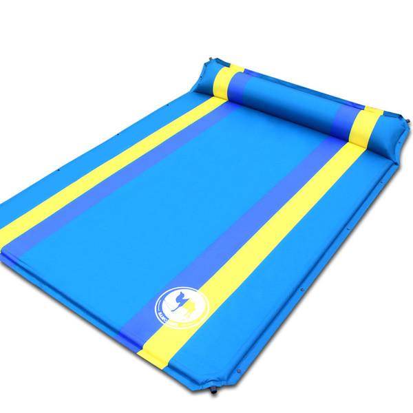 192 * 130 * 3.5 cm en venta 2 personas PVC colchón inflable automático cojín de alfombras de humedad al aire libre que acampa
