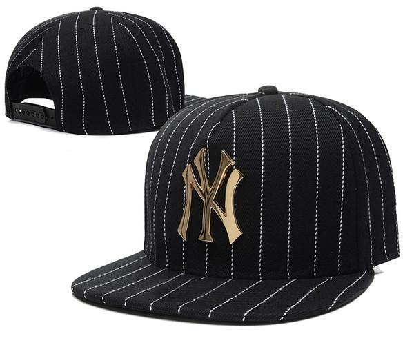 7164f750ac827 2018 NY Rouge Noir Bleu Casquettes De Baseball Chapeaux Fitted Hat Sports  Designer Chapeaux Pour Hommes