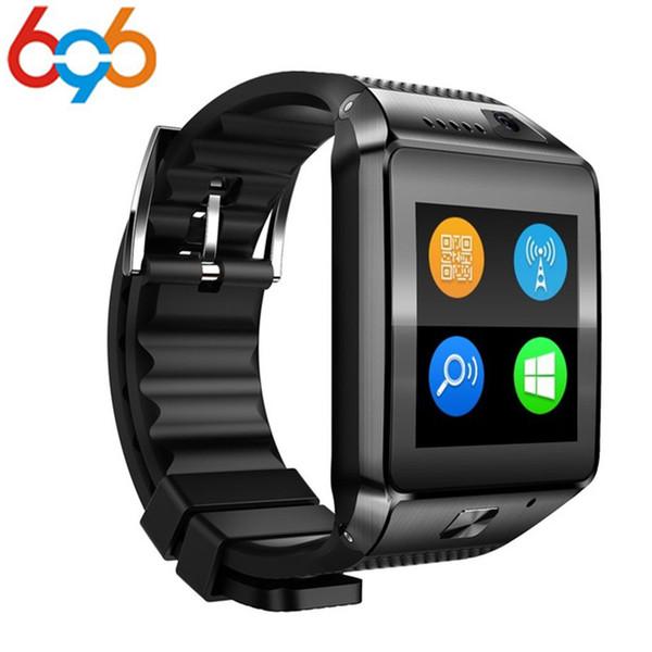 696 плюс DZ09 смарт часы MTK2502 1.54 TFT сенсорный Smartwatch телефон наручные смарт-часы видео-радио поддержка TF SIM-карты