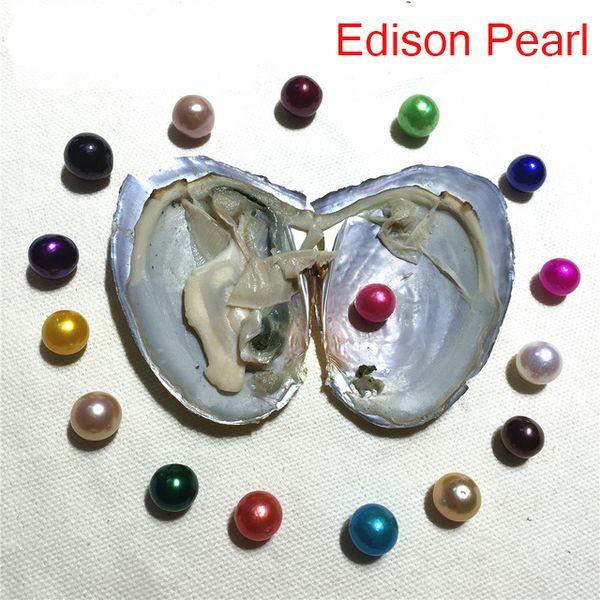 Trasporto libero 2019 New DIY 9-11mm Edison Perla Oyster acqua fresca Akoya all'ingrosso in shell vuoto-imballato 2018 regalo di compleanno spettacolo di perle
