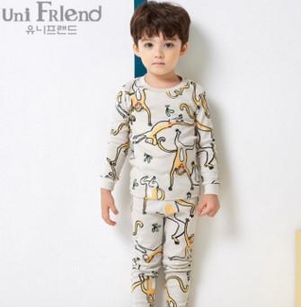 100 %Cotton Kids Pajamas 2017 Children Autumn Clothing Set Girls Pijamas Infantil Sleepwear For Boys Pajamas Baby Nightwear