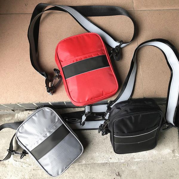 New NOIR RR Cross Body Bags 3M Reflective Shoulder Bag Storage Bag Outdoor Bags Men Canvas Mobile Phone Packs Messenger Bags
