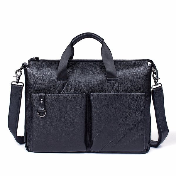 Famous Brand Briefcase For Man Cow Leather Men's Briefcase Satchel Bags For Men Business Fashion Messenger Bags Laptop Bag