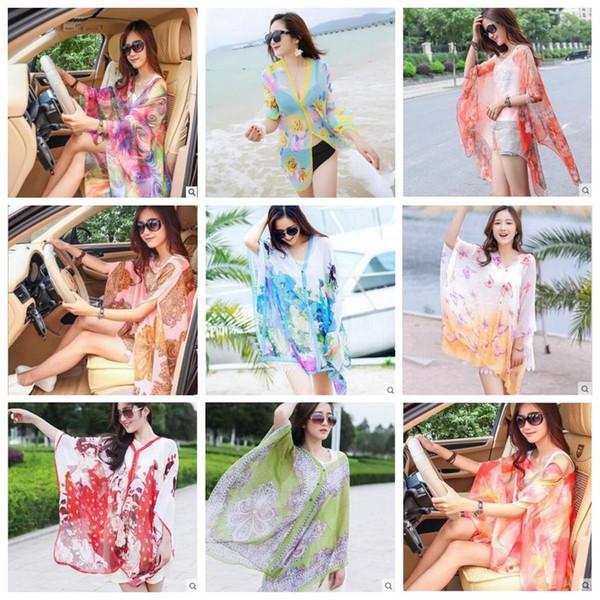 best selling Beach Shawl Paisley Sarong Scarves Women Summer Dresses Sunscreen Print Bikini Cover Ups Poncho Fashion Wraps Sexy Swimwear Beachwear B3944
