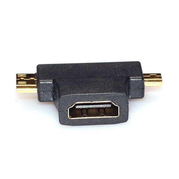 All'ingrosso- Affidabile connettore HDMI 3 in 1 da HDMI a mini HDMI maschio + micro HDMI maschio