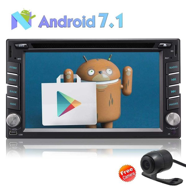 "Double Din Vehicle Navigation Touch Screen,Android 7.1 1GB RAM 16GB ROM 7/""Car Radio AM//FM Radio Receiver//Bluetooth//GPS//WiFi Connection//Mirror Link"