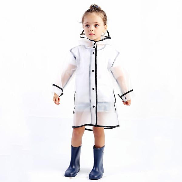 Rainwear Rainsuit Kindergarten Kids Baby Raincoat Waterproof EVA Rain Coat Boy Children Girls Windproof Poncho