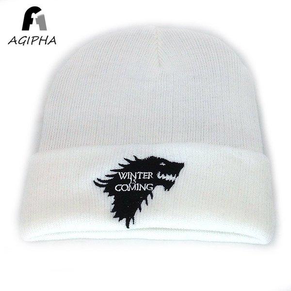 Compre Invierno Punto Beanie Sombreros Para Mujeres Hombres Wolft ...