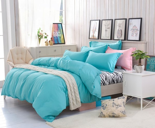 Home Textile New 2017 Zebra-stripe Solid Color Bedding Sets Modern Duvet Cover Set King Queen Full Twin Size Bed Linens