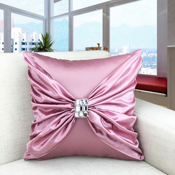 Cushion cover sofa seat cushion hotel furniture accessories bowknot seat cushion cover pillow case safa bed car cushions